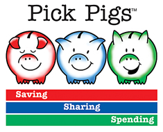 Pick Pigs: Saving, Sharing & Spending